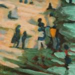 Beach 1. Oil on Canvas. 21 x 25cm. 2002