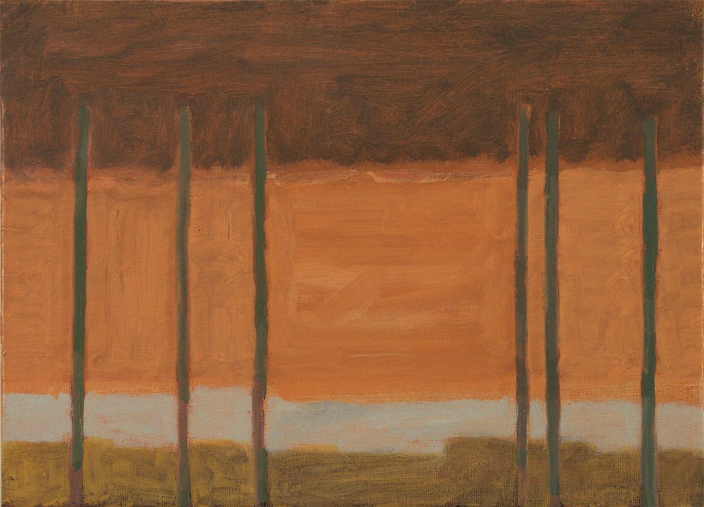 Scaffold b. Oil on Canvas. 25 x 35 cm 2003